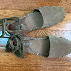 TOMS Katalina Espadrille Brown Shoes